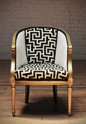 Vintage upholstered chairs 5