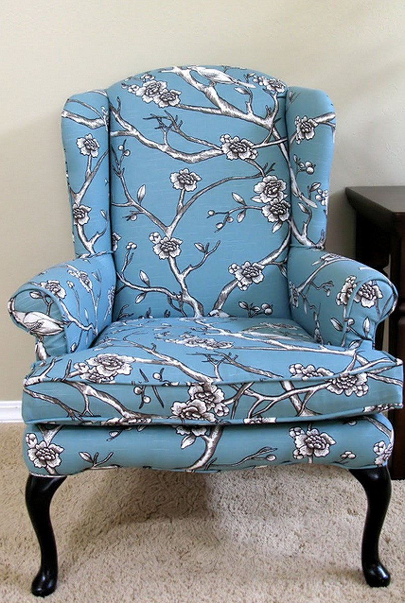 Vintage upholstered chairs 8