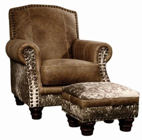 Western style leather chairs