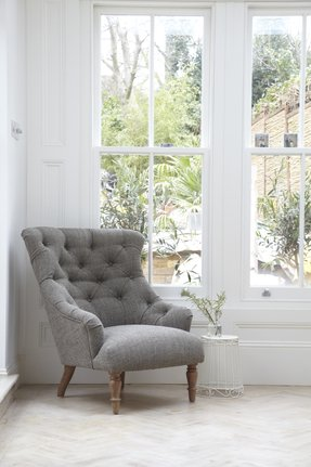White tufted chairs 1