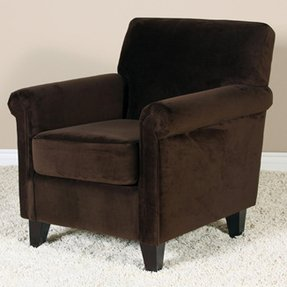 Whitney brown microfiber club chair