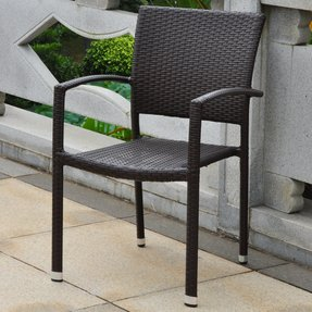 Wicker outdoor arm chairs 5