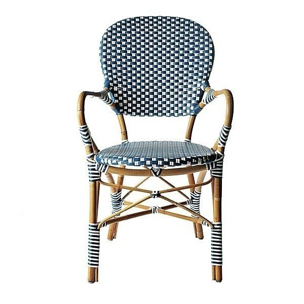 Wicker outdoor arm chairs