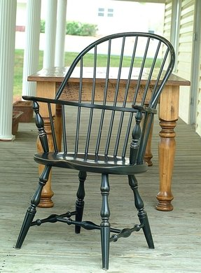 Black Windsor Arm Chair Foter