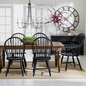 Windsor chairs black