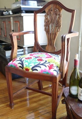 Wood kitchen arm chairs 2