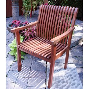 Wood outdoor arm chairs 7