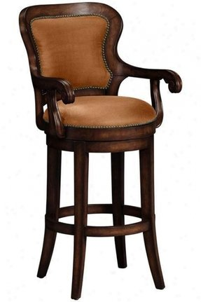 Wood Swivel Bar Stools With Arms