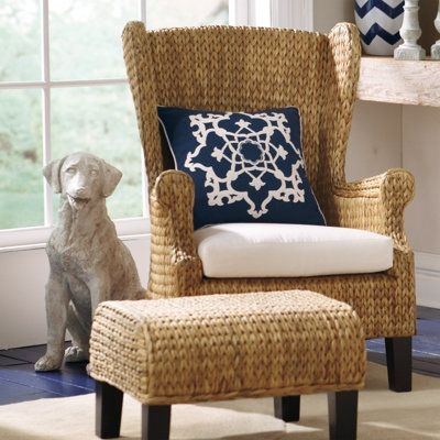 Woven Back Arm Chair 1
