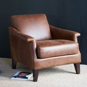 Writers leather club chair
