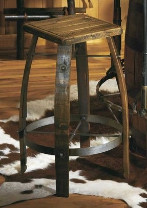 Wood Tractor Seat Bar Stools
