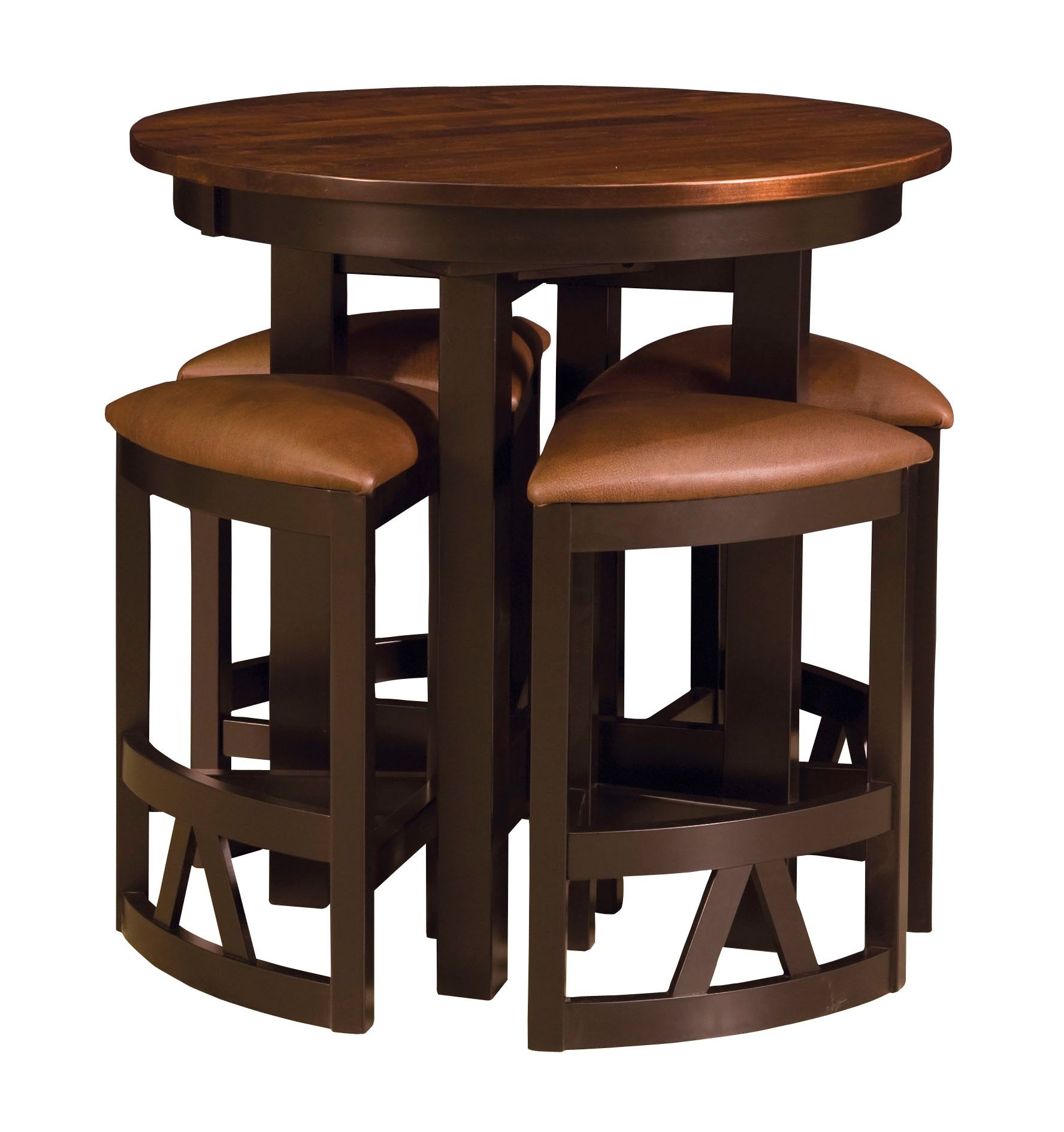 Amish Pub Table Chairs Set Bar Height High Dining Stools Modern Solid Wood New