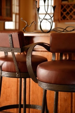 bar stools with backs and arms foter