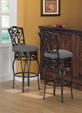Black Wrought Iron Bar Stools