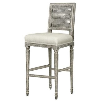 Bungalow 5 annette barstool in gray limed oak traditional bar