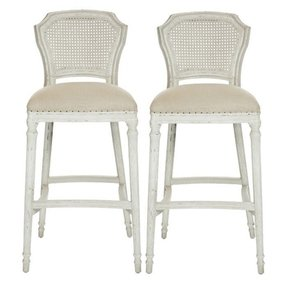 Cane back bar stools