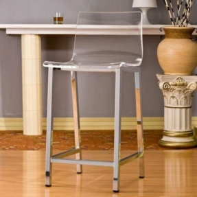 Clear acrylic bar stools 1