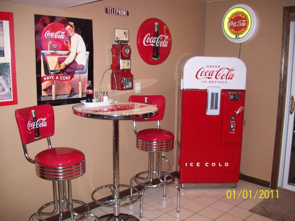 Coca Cola Kitchen Decor Vitro Coca Cola Logo Chrome Bar