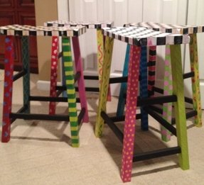 Hand Painted Bar Stools Ideas On Foter