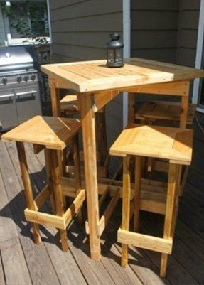 tall bistro table and chairs - foter