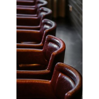 Italian leather bar stools