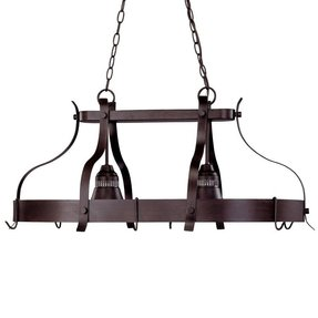 Kitchen Island Pot Rack Lighting Foter - Kitchen pot rack light fixtures