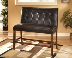 Lacey medium brown faux leather double bar stool set of