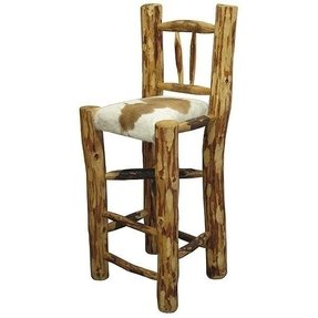 Log cabin bar stools