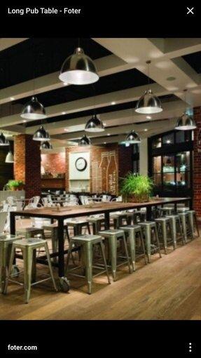 Top Long Pub Table - Foter GI51