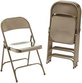 Metal Folding Chairs, Bronze, 4/Carton by VIRCO (Catalog Category: Furniture & Accessories / Chairs)