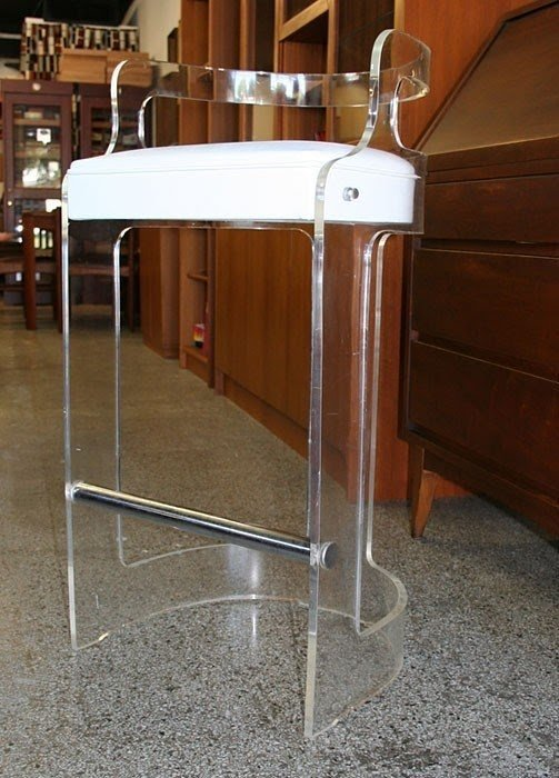 Ordinaire Lucite Bar Stools   Ideas On Foter