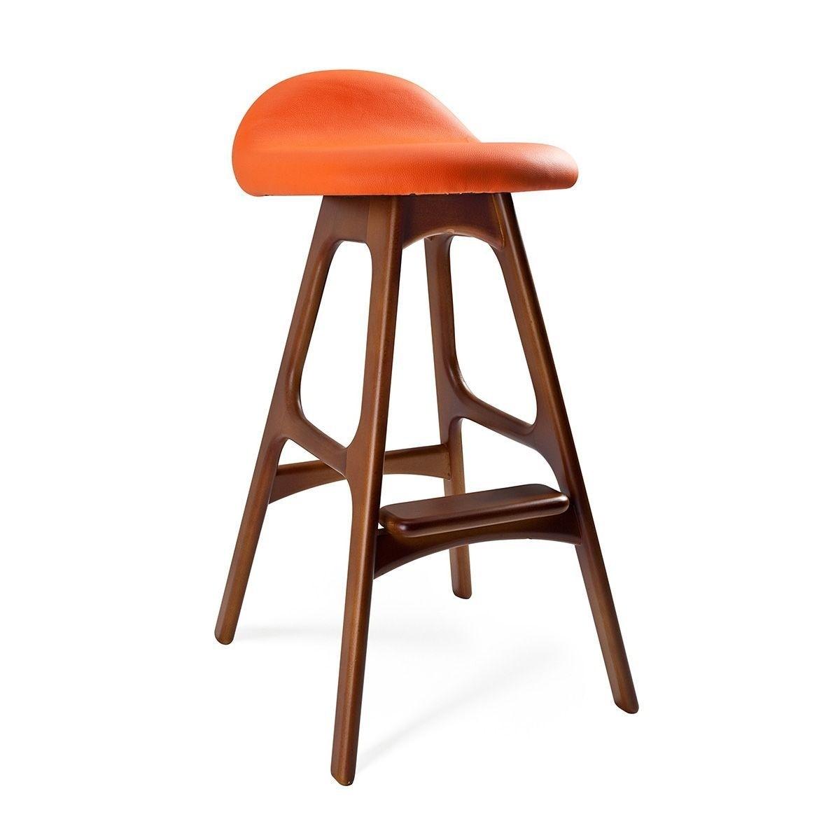 Modern Orange Bar Stools