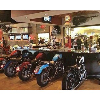 Motorcycle bar stools