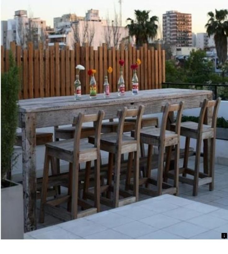 Superbe Outdoor Bar Height Table