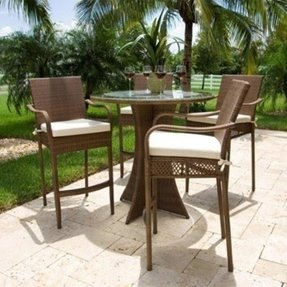 Rattan outdoor bar furniture