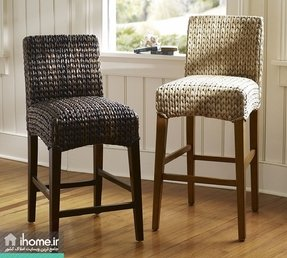 Seagrass barstool with back 5