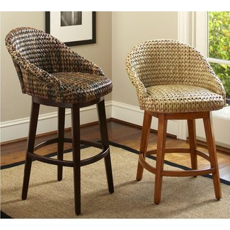 Seagrass bucket swivel barstool 1