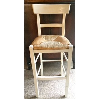 Shabby country farmhouse style rush seat