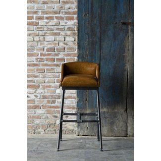 Short back bar stools