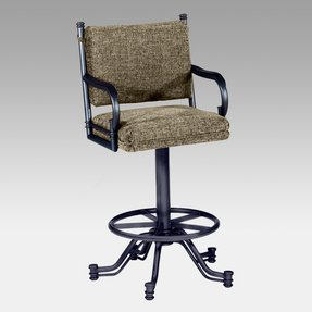 Tempo bullseye 26 in tilt swivel counter stool with arms
