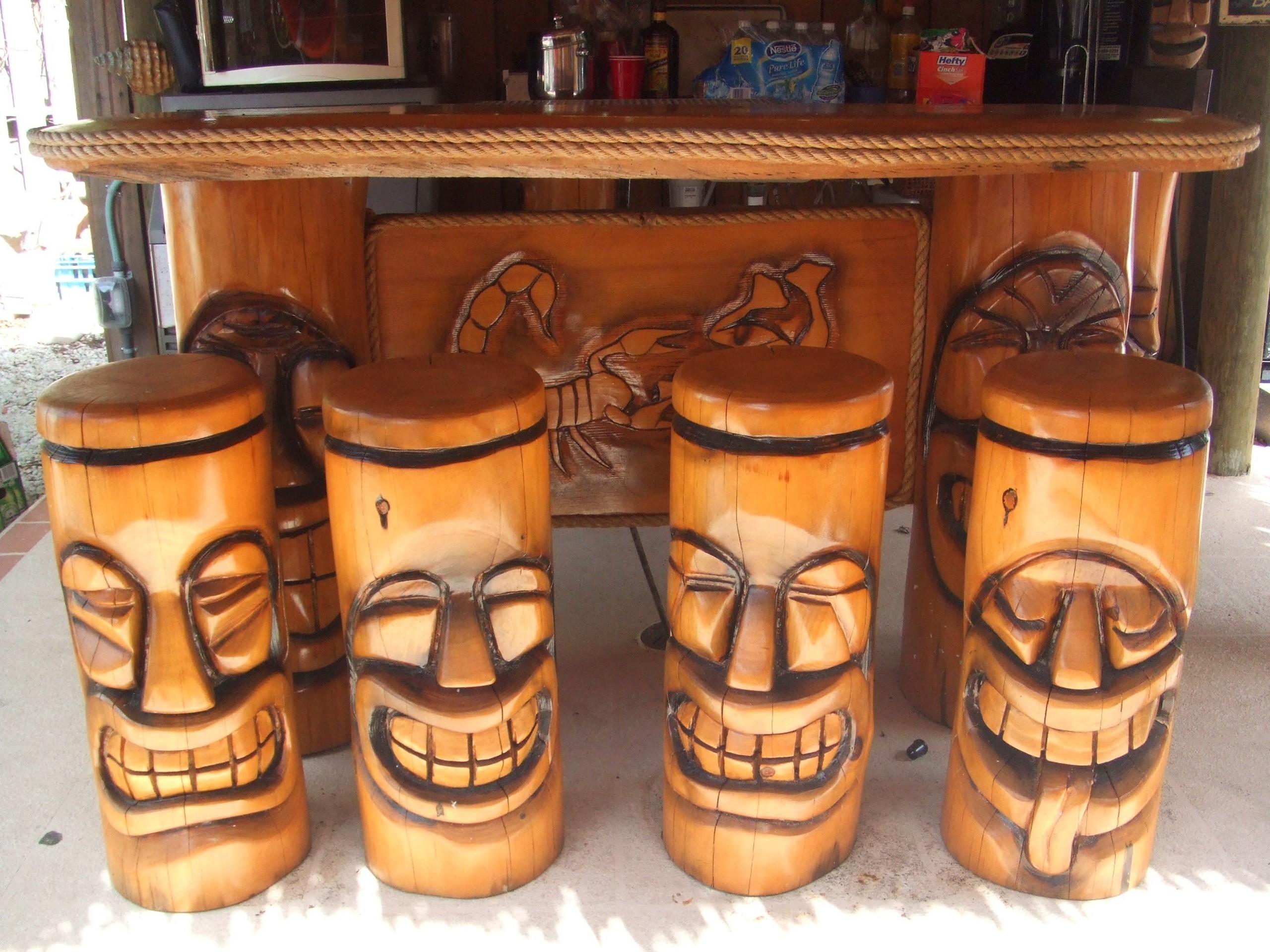 Amazing Tiki Bar Stools 5