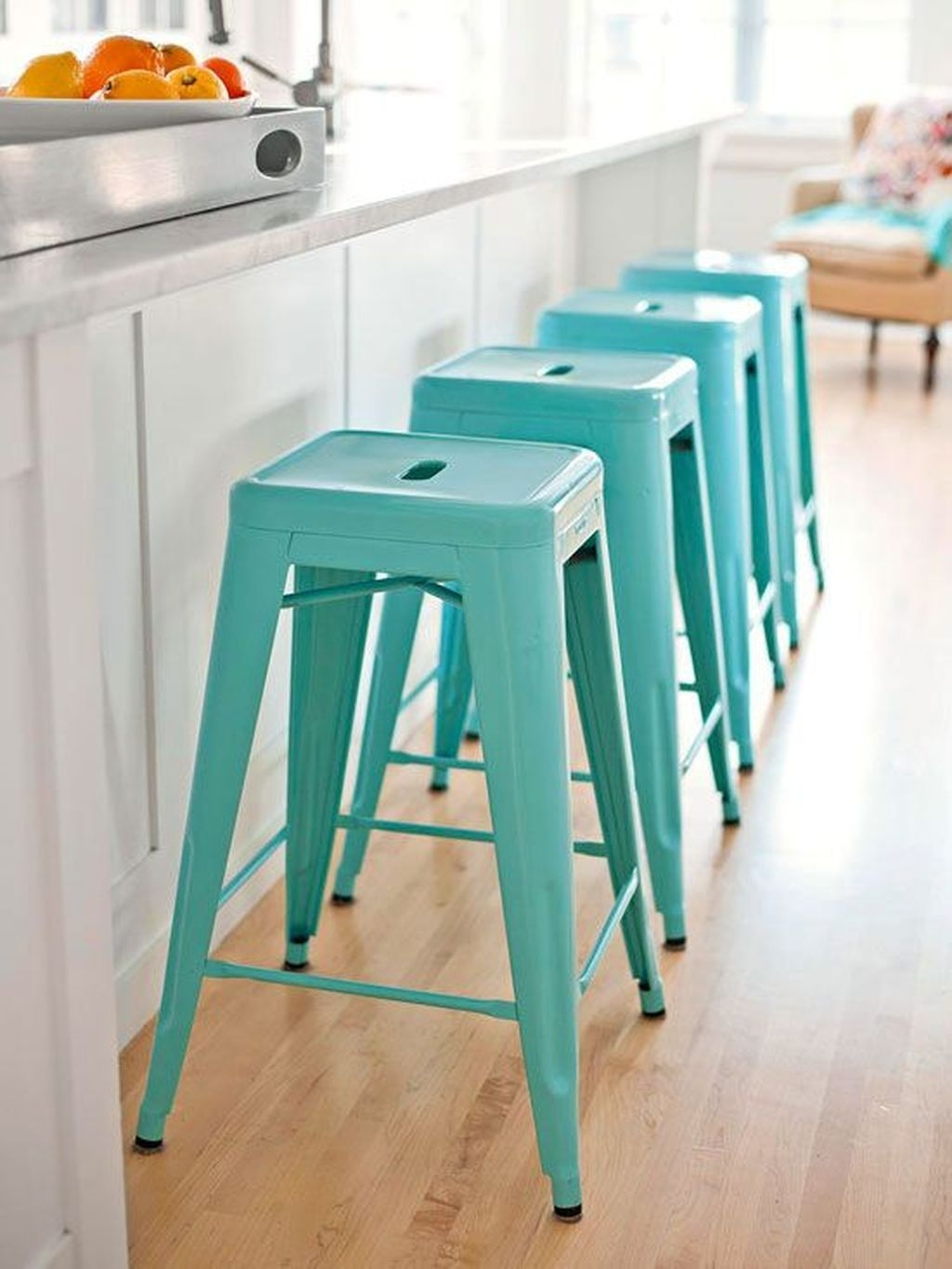 Captivating Turquoise Bar Stools Kitchen