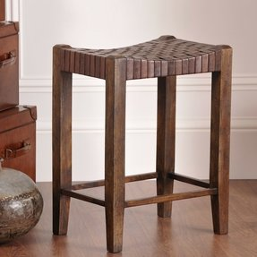 William sheppee saddler 26 counter stool in walnut stain
