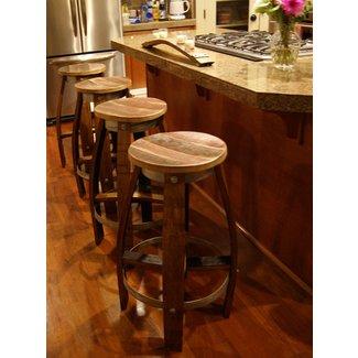 Fantastic Wine Barrel Bar Stools Ideas On Foter Ncnpc Chair Design For Home Ncnpcorg