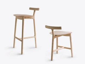 Wooden 3 legged stool