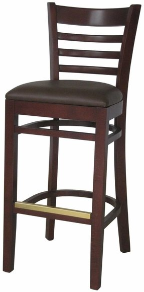 Wooden bar stools with backs 2