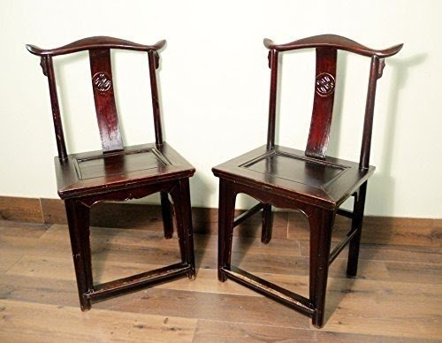 Superbe Antique Chinese High Back Chairs (Pair) (5427), Circa 1800 1849