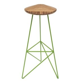 Bamboo natural bar stools