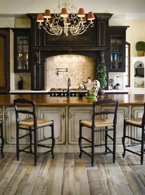 Black rustic bar stools