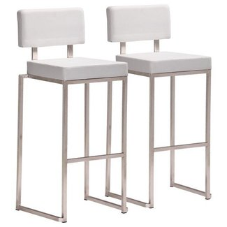 Brushed nickel bar stools 2